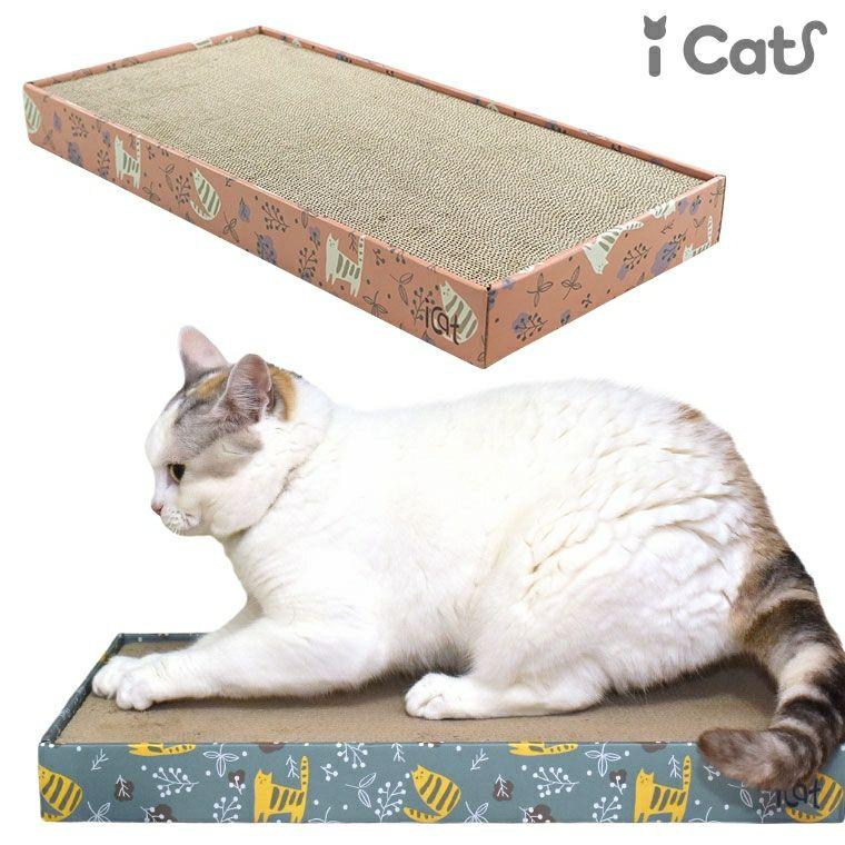 【 猫 爪とぎ 】iCat スクエアつめとぎ のはらとネコ