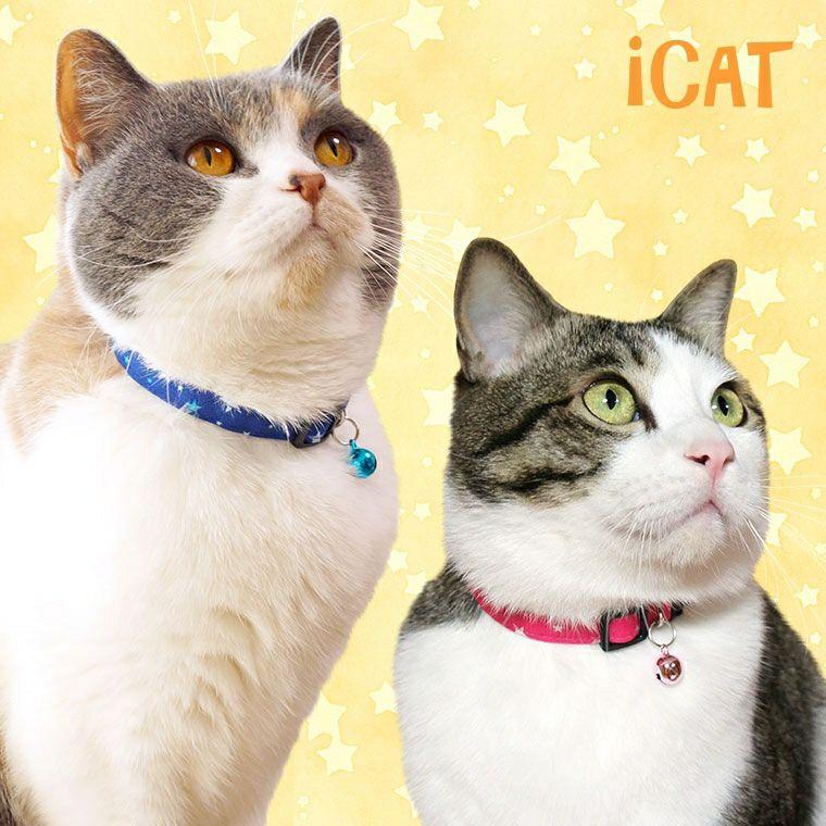 【 猫 首輪 安全 】iCat キティカラー ランダムスター メール便OK